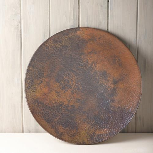 "20"" Copper Lazy Susan Turntable"