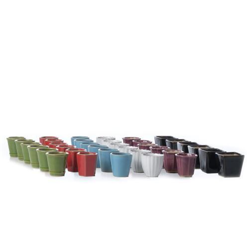 Farrow Mini Grdn Pot Assrt 6 clrs/mix 8ea 48pc ttl