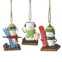 S'mores Winter Sport Ornaments (3 asstd)