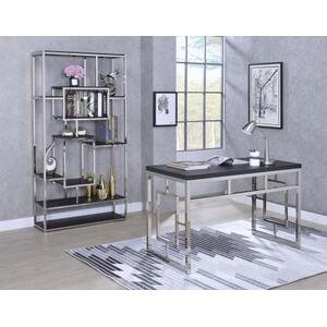 Alize 2-Piece Desk Set, Capuccino (Desk & Bookcase)