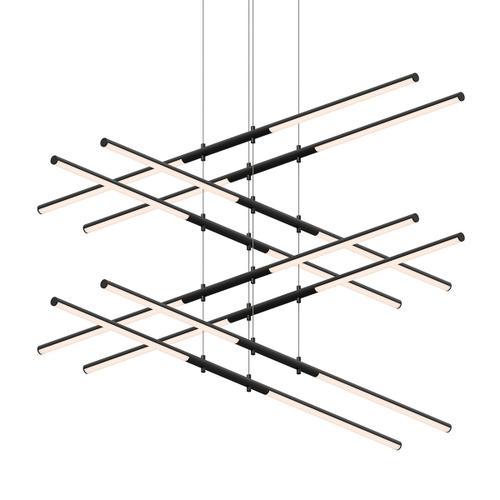 Sonneman - A Way of Light - Tik-Tak® LED Pendant [Size=Stack 4-Tier, Color/Finish=Satin Black]