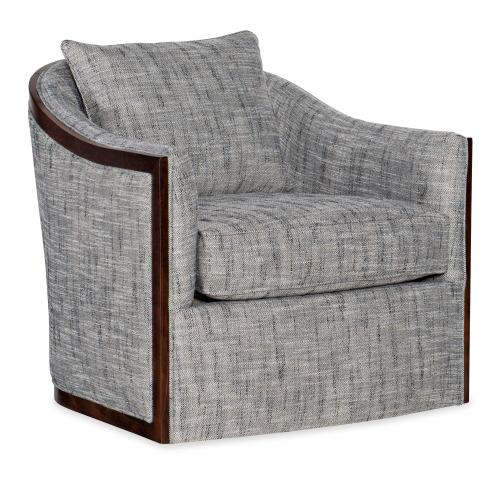 Living Room Coco Exposed Wood Swivel Chair