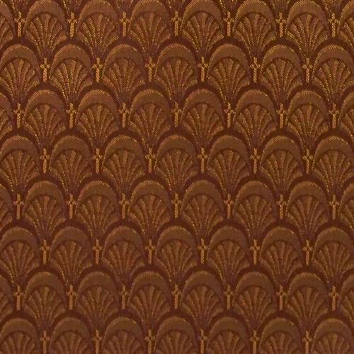 Flash Furniture - 18.5''W Church Chair in Arches Bronze Fabric - Gold Vein Frame