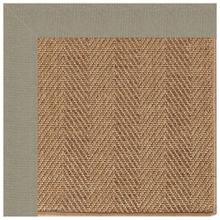 "Islamorada-Herringbone Canvas Taupe - Rectangle - 24"" x 36"""