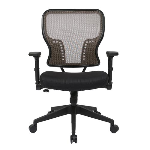 Latte Air Grid Back and Padded Mesh Seat Chair