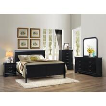 BLACK LOUIS PHILIPPE 5 DRAWER CHEST
