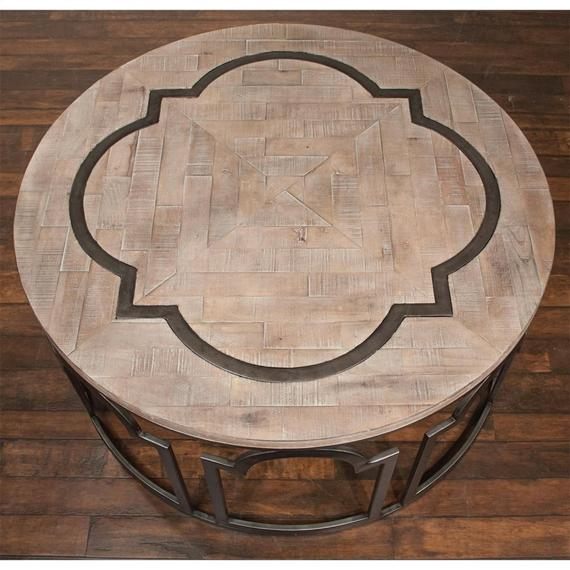 Riverside - Estelle - Round Coffee Table - Washed Gray Finish