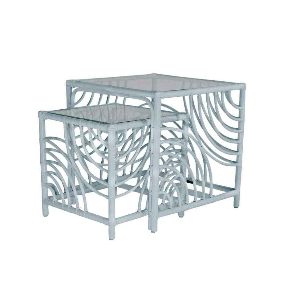 See Details - Swirl Rattan Nesting Tables