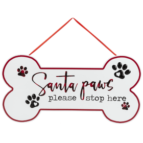Santa Paws Plaque