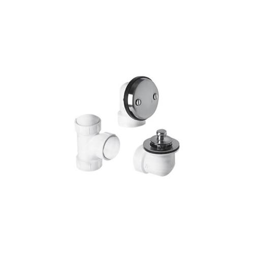Mountain Plumbing - PVC Plumber's Half Kit with Economy Lift & Turn Trim (Two Hole Face Plate) - French Gold