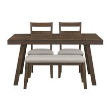 See Details - Caswell Dark Brown Dining Set