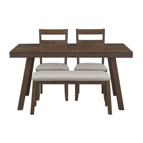 Gallery - Caswell Dark Brown Dining Set