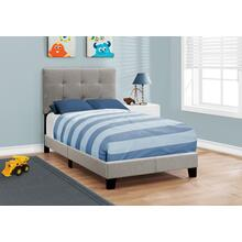 See Details - BED - TWIN SIZE / GREY LINEN