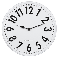 Small Black & White Enamel Wall Clock