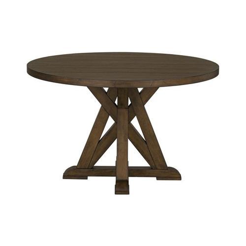 Standard Furniture - Beckman Brown Round Pedestal Table, Walnut