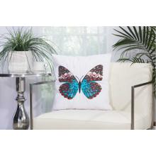 "Outdoor Pillows L2791 White 18"" X 18"" Throw Pillow"