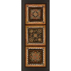 """Folk Art Panel Il"" By Tava Studios Framed Print Wall Art"
