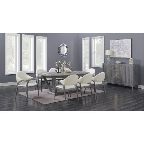 Emerald Home Carrera Dining Table Base Slate Gray D905-10base