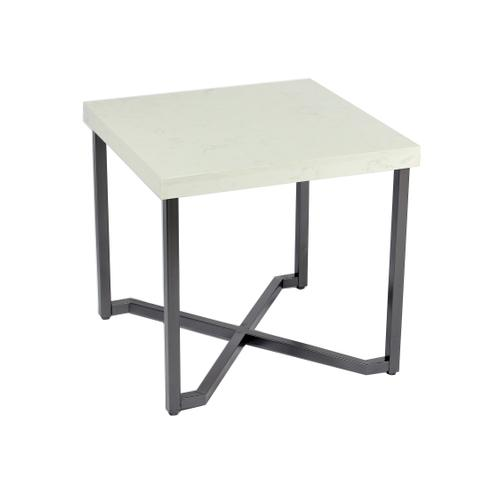 Emerald Home Kiara T533-01 End Table Rta With Marble Top