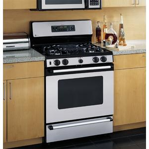 "GE Profile Spectra 30"" Self-Clean Free-Standing Gas Range with Warming Drawer"