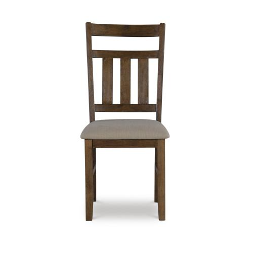 Upholstered Seat Side Chairs, Rustic Umber (set of 2)