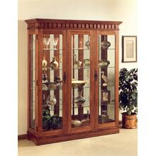 Curio Cabinet - 61W x 18D x 74H - Beveled Glass - Halogen Light