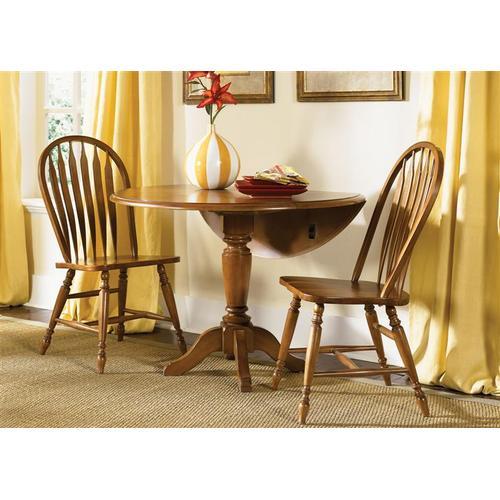Liberty Furniture Industries - Drop Leaf Pedestal Table