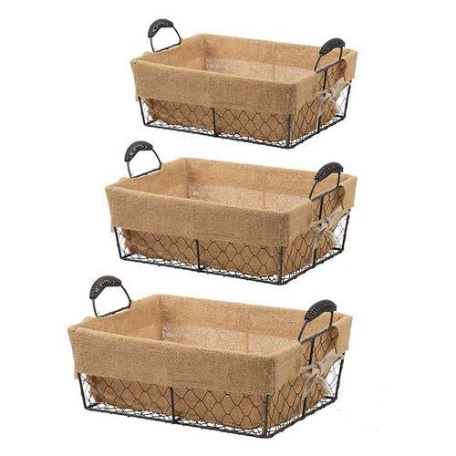 S/3 Joyce Baskets w/Canvas
