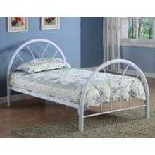 See Details - WHITE TWIN SIZE BED