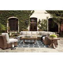 5-piece Outdoor Sectional With Coffee Table and 2 End Tables