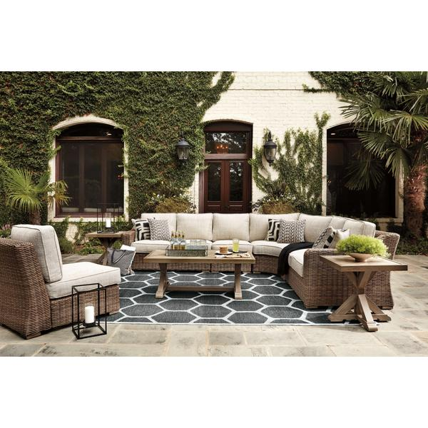 See Details - 5-piece Outdoor Sectional With Coffee Table and 2 End Tables