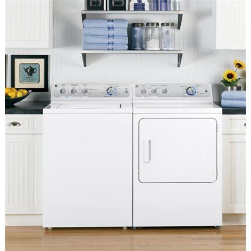 GE Appliances - GE® 7.0 cu. ft. capacity Dura Drum electric dryer with HE SensorDry™