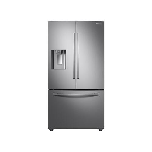 28 cu. ft. 3-Door French Door Refrigerator with AutoFill Water Pitcher in Stainless Steel