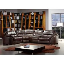 Divani Casa 262ANG Dark Brown Leather Sectional Sofa