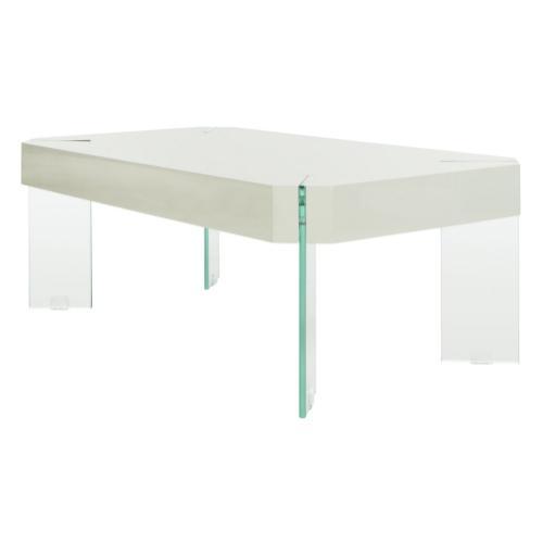 Safavieh - Katelyn Rectangular Contemporary Glass Leg Coffee Table - Grey