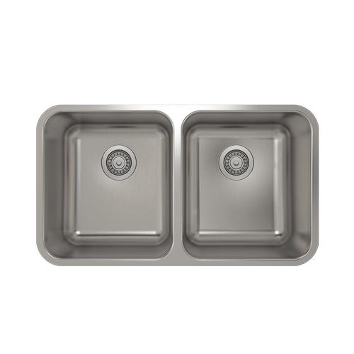 Pro Chef - ProInox E200 50/50 Double Bowl Undermount Kitchen Sink ProInox E200 18-gauge Stainless Steel, 28'' X 16'' X 9''