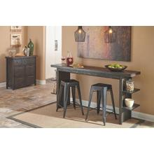 See Details - Long Counter Table w/ 2 Chairs