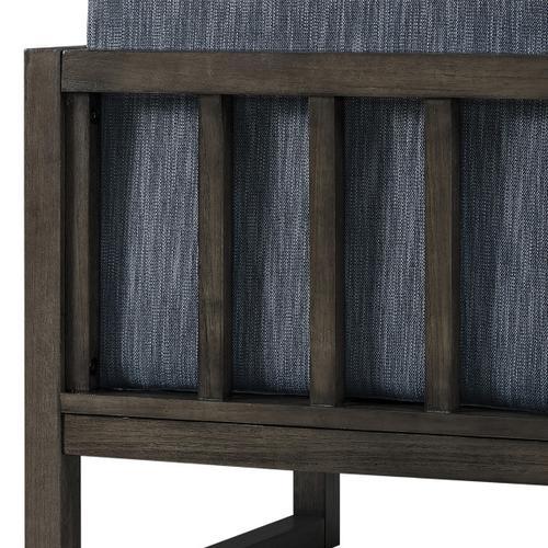 Modern Style Indigo Wood Frame Chair