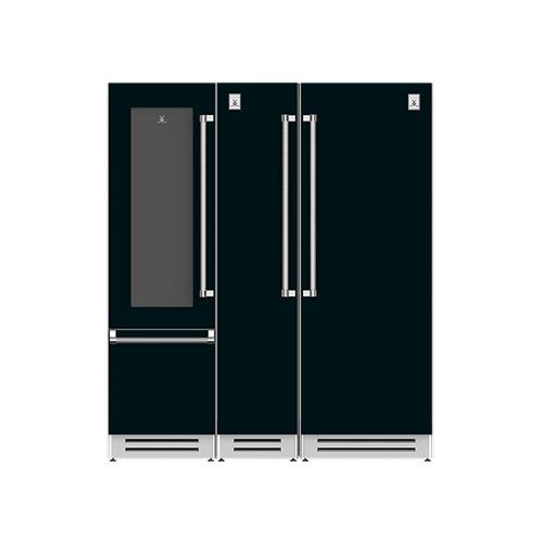 "Hestan - 72"" Wine Refrigerator (L), Column Freezer and Refrigerator ® Ensemble Refrigeration Suite - Stealth"