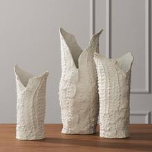 Crocodile Vase-Matte White-Lg