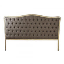 Maison Tufted Headboard (King, Aubergine Linen)