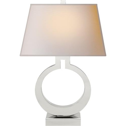 Visual Comfort CHA8970PN-NP E. F. Chapman Ring 27 inch 100 watt Polished Nickel Decorative Table Lamp Portable Light
