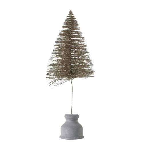 """5"""" x 16"""" Glitter Bottle Brush Tree"""