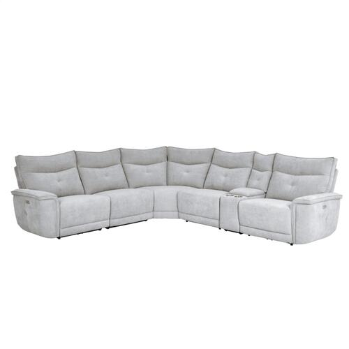 6-Piece Modular Power Reclining Sectional with Power Headrest
