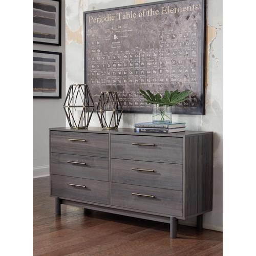 Full Panel Headboard With Dresser and 2 Nightstands