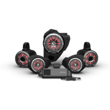 View Product - Ride Command® 3-Way Interface, 1500 Watt, Front Color Optix™ Speaker, Subwoofer & Rear Horn Speaker Kit for Select Polaris® RZR® Models (Gen-3)