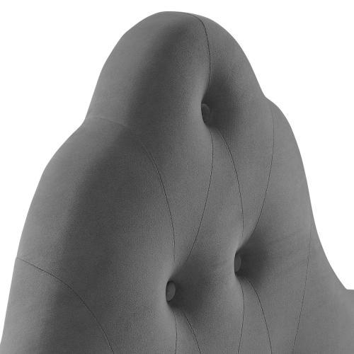 Modway - Sovereign Twin Diamond Tufted Performance Velvet Headboard in Gray