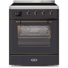 Majestic II 30 Inch Electric Freestanding Range in Matte Graphite with Bronze Trim