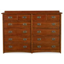 View Product - Mission 12 Drawer Dresser