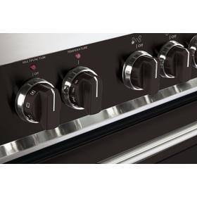 Set of 8 Knobs for Designer Single Oven Gas Range - Black
